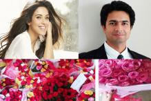 Fiance Rahul Sharma woos Asin by giving her a 'floral surprise'
