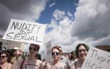 Hundreds in Canada rally for women's topless rights
