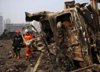 China blasts toll rises to 112; more than 90 still missing