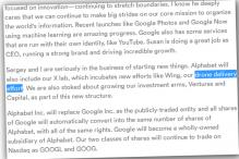 Google has an Easter egg hidden inside the Alphabet announcement post