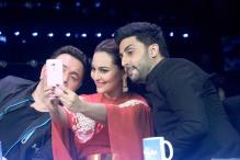 Photos: Abhishek Bachchan, Rishi Kapoor promote 'All Is Well' on the sets of 'Indian Idol Junior 2'