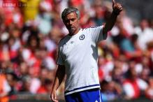 Jose Mourinho throws away Community Shield medal