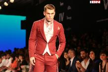 LFW 2015, day 3: International model Stephen James walks the ramp for Narendra Kumar