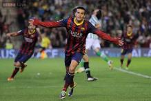 Pedro to step in for ill Neymar in Barca's Super Cup clash