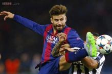 Gerard Pique banned for four matches over Super Cup red card