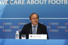 FIFA contender Michael Platini refuses to talk election issues