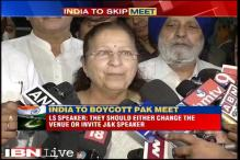 Pak should either change venue for CPU conference or invite J&K Speaker: Sumitra Mahajan