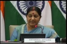 India stops short of cancelling NSA talks, Sushma says 'welcome Aziz if terror on agenda, no Hurriyat meet'