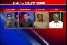Congress questions Sushma and her family's loyalties towards Lalit Modi