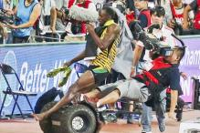 Usain Bolt beats Gatlin but loses to a cameraman