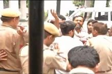 Watch: Police drags Yogendra Yadav, refuses to allow him to speak to media