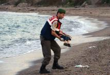 Drowned Syrian toddler's coffin heads home