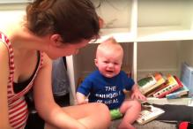 Meet the saddest bookworm: This baby starts crying every time a book ends