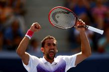Defending champion Marin Cilic beats Jeremy Chardy to enter US Open quarter-finals