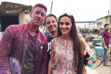 Coldplay celebrates Holi in Mumbai while filming their new music video