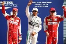 Mercedes driver Lewis Hamilton grabs pole position for Italian Grand Prix