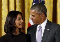 Indian-American author Jhumpa Lahiri gets National Humanities Medal from Barack Obama