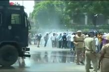 Violet protest against UP government as BPED degree holders demand permanent job