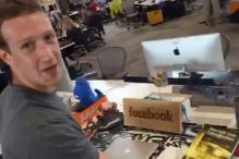 Images: All that's on Mark Zuckerberg's desk at the Facebook headquarters