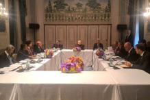 PM Modi meets Amercian CEOs at financial sector round-table conference