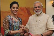 Saina Nehwal meets PM Narendra Modi on birthday eve, gifts special racket