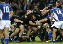 All Blacks labor to beat lowly Namibia 58-14 in Rugby World Cup