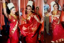 These photos of Rakhi Sawant's performance on Ganesh Chaturthi will leave you in splits