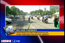 Second round of car-free Tuesdays in Gurgaon today