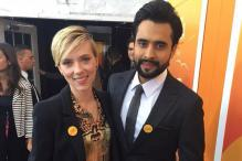 Photo of the day: Jackky Bhagnani meets Scarlett Johansson at the premier of 'He Named Me Malala'