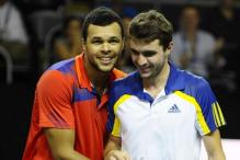 Former champions Gilles Simon and Jo-Wilfried Tsonga in Open de Moselle final