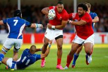 Tonga holds off Namibia in 35-21 win at Rugby World Cup