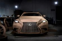This is the world's first origami car by Lexus that you can actually drive