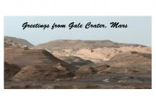 'Greetings from Gale Crater': NASA rover sends dazzling Martian 'postcard' after drilling new hole on the red planet