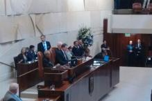 President Mukherjee addresses Israeli Parliament Knesset, thanks them for Kargil help
