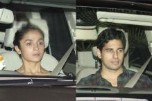 Snapshot: Alia Bhatt visits 'friend' Sidharth Malhotra's house
