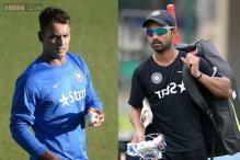 Stuart Binny, Ajinkya Rahane slog it out at Team India practice