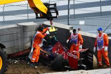 Toro Rosso's Carlos Sainz misses Russian GP qualifying after big crash