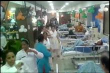 Watch: Doctors, nurses perform garba inside a ward in Ahmedabad hospital
