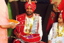 Snapshot: Hours before the wedding, Harbhajan Singh gives a glimpse of his look
