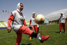 Eight players of Iran's women's football team are men