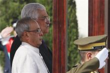 President Pranab Mukherjee rushed out from Al Kuds University amid protests by Palestinian students