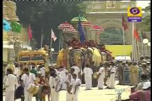 405th Mysore Dasara Comes to an End with Colourful Elephants Procession, Drought & Farmers Suicide Dampen Spirits