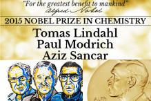Nobel Prize in Chemistry 2015 awarded to Tomas Lindahl, Paul Modrich and Aziz Sancar