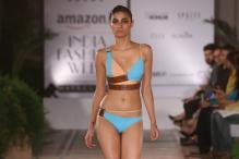AIFW SS'16: Shivan & Narresh showcase bold and sassy bikini-saris and maillots on the ramp