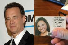 Tom Hanks uses his 10.4 million Twitter followers to help a student find college ID
