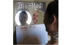 Man dresses up as a giant Tinder profile on Halloween, gets swiped right