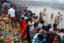 Biharis celebrate Chhath with religious fervour across India