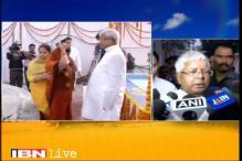 Lalu Prasad celebrates Chhath Puja in Patna