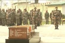 Army pays tribute to Colonel Santosh Mahadik who was killed while battling terrorists in Kupwara, J&K