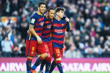 Neymar, Suarez, Messi score as Barcelona beat Sociedad 4-0 in La Liga